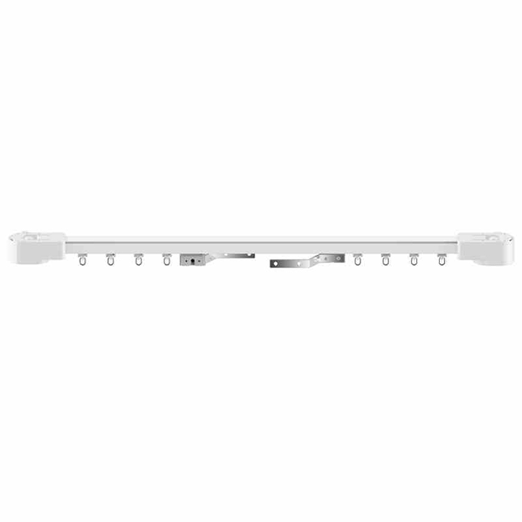 Eruiklink 3m Or Less Aluminium Electric Curtain Rail Track Motorized Ceiling Mounting Window Curtain Rail For Smart Home System
