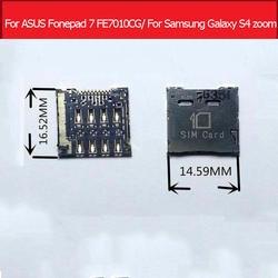 Подлинная sim-карты adapte для ASUS Fonepad 7 K004 FE7010CG гнездо сим-карты для samsung Galaxy S4 зум C101 и i8730 Sim лоток