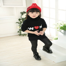 Boys girls letter print sweater 2017 winter autumn fashion kids cartoon Knitwear children Pullover baby boy girl clothing tops