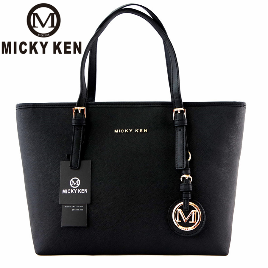 MICKY KEN Brand New 2017 Women Handbags Big Pu Leather High Quality Letter Female Bag Designer Bolsos Mujer Sac A Main Totes(China)