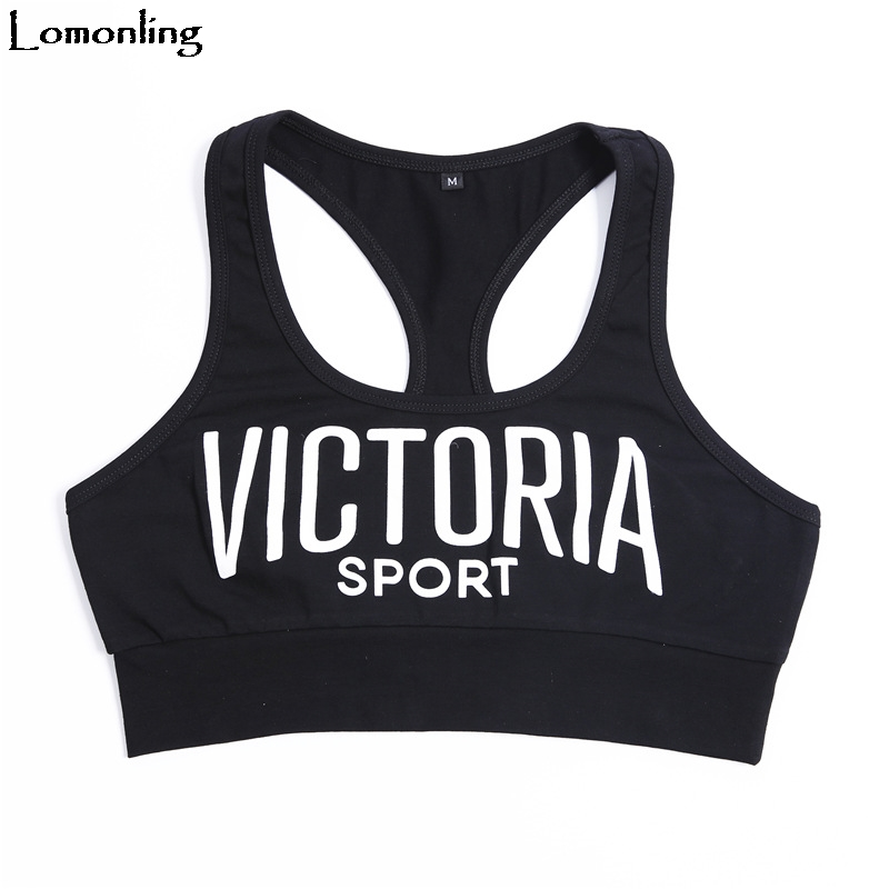 Lomonling Lace Top Special Offer Cropped Feminino Regata Feminina 2019 New Women's Vest Base Letters Printed Comfort Cotton