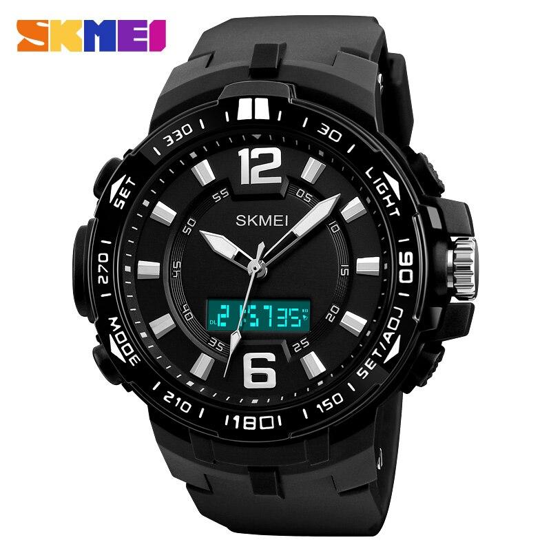 Azul del reloj SKMEI 2018 la marca de lujo de los hombres relojes multifunción Digital de cuarzo relojes de hombre Deporte reloj hombre reloj de moda impermeable