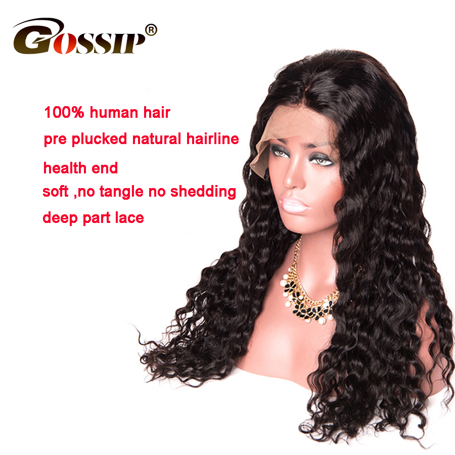 360 Lace Frontal Wig Pre Plucked With Baby Hair Brazilian Water Wave Wig 360 Lace Front Human Hair Wigs For Black Women Remy Wig