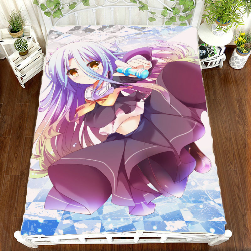 Smart Home Anime Manga No Game No Life The Game Of Life Bed Sheet 150*200cm Bedsheet To Assure Years Of Trouble-Free Service