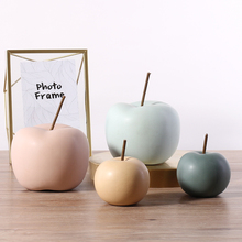 цена на Creative ceramic Apple ornaments Arts and Crafts fruit miniature figurines fairy garden home decoration accessories modern gifts