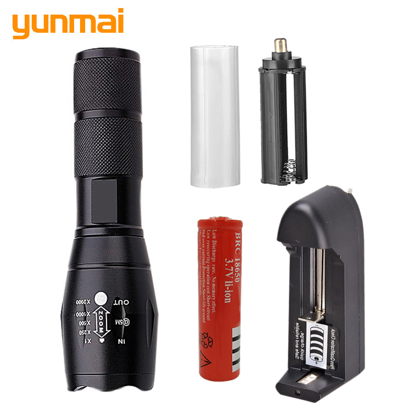LED Flashlight 18650 Zoom Torch Waterproof Flashlights XM-L L2 / T6 3800LM 5 Mode Led Zoomable Light For 3x AAA or 3.7v Battery waterproof xm l t6 2200 lumen torch tactical zoom led flashlight torch light lanternas led by 3 aaa 18650 battery