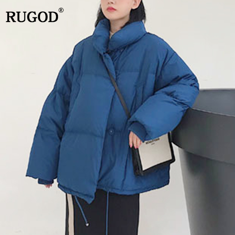 RUGOD 2018 New Fashion Female Flannel Coat Casual Solid Single Breasted Thick Bat Sleeved Trench Coat For Women Casaco Feminino