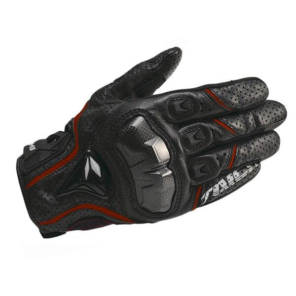 All'ingrosso e al minuto tutto in pelle RST390 guanti da moto in fibra di carbonio forata strada equitazione guanti uomo guanti traspiranti