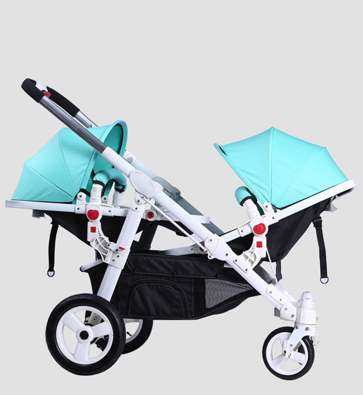 где купить High quality Motherknows twins baby stroller front and rear folding light high quality two-way trolley six free gifts по лучшей цене