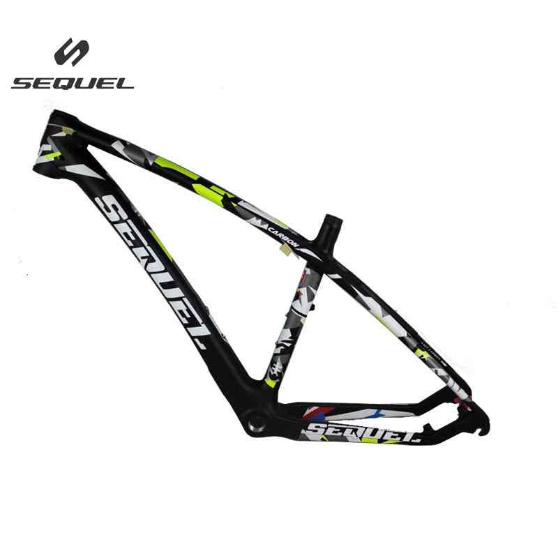 Camouflage bicicletas mountain bike 27 650B bike frame MQ-1 carbon bike frame with headset and clamp 135*9mm bicycle frame smileteam new 27 5er 650b full carbon suspension frame 27 5er carbon frame 650b mtb frame ud carbon bicycle frame
