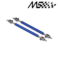 Universal Adjustable 15cm Racing Front Bumper Lip Splitter Rod Strut Tie Bar Support Kit