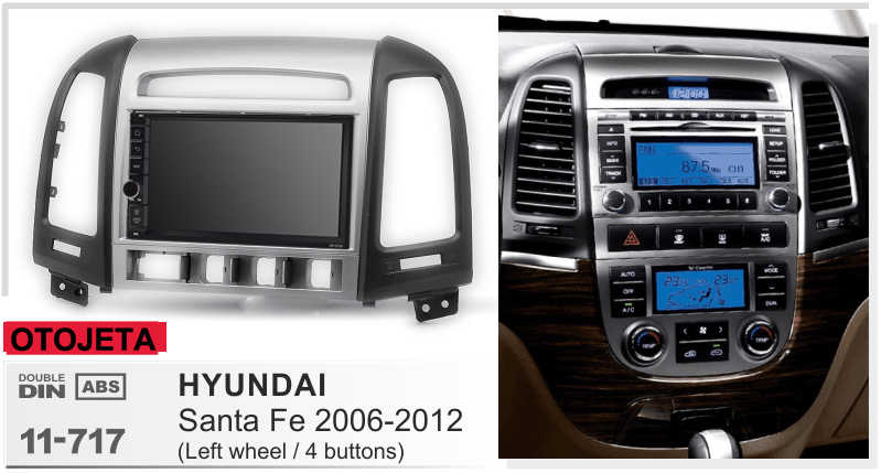 Fit voor hyundai santa fe LHD 2006-2012 quad core android 8.1 frame plus auto radio audio multimedia autoradio's tape recorder gps