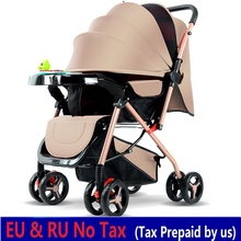 hot deal buy baby stroller lightweight folding umbrella strollers two-way baby stroller four seasons can sit can lie mother baby stroller