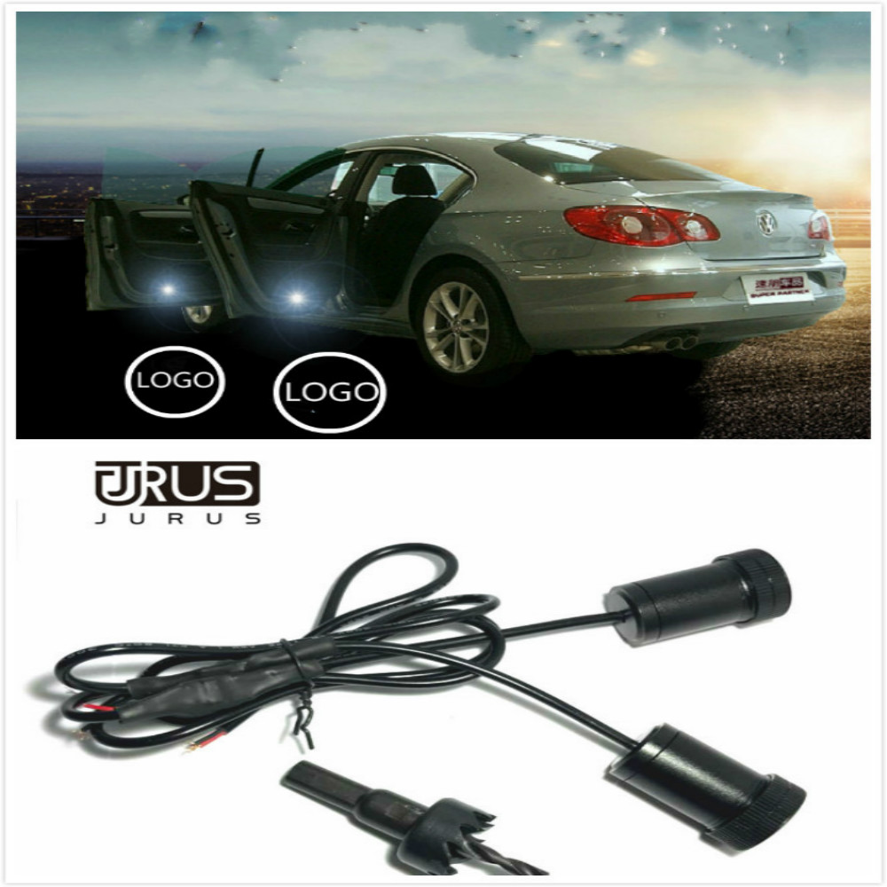 JURUS A pair Car Door Welcome Light courtesy car laser projector For Arsenal For Chelsea For Manchester United club Logo Light