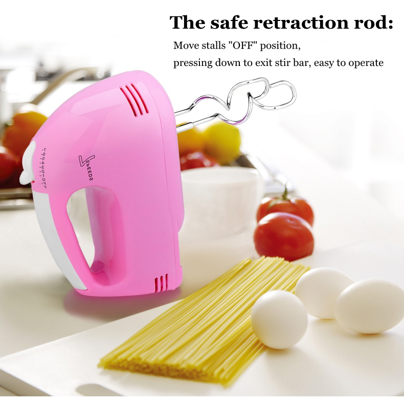 JIQI Electric Hand Mixer with 7 level speed Made of ABS and Stainless Steel for Blending and Whisking 11