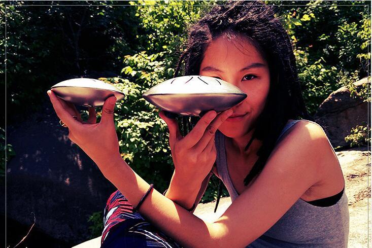 Mini tambour à main en acier langue tambour 12 cm/16 cm 6/8 ton réservoir accrocher tambour avec baguettes de tambour et sac Instruments à Percussion