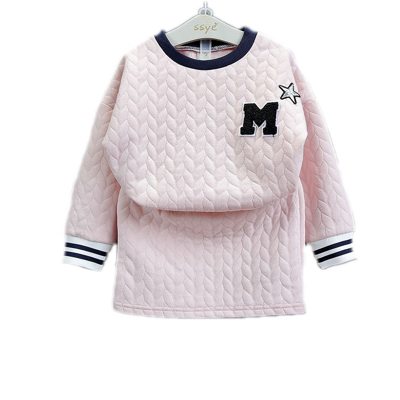 baby christmas outfits 2017 winter set kids girl long sleeve solid pullover+skirt toddler girl clothing2pcs girls winter clothes 2017 new style spring autumn hoodie baby girl clothing set sequin lace long sleeve velour sports jacket long trousers outfits