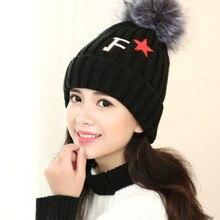 2016 шерсть шляпа добавить шерсти теплые наушники женский зима вязание шляпа