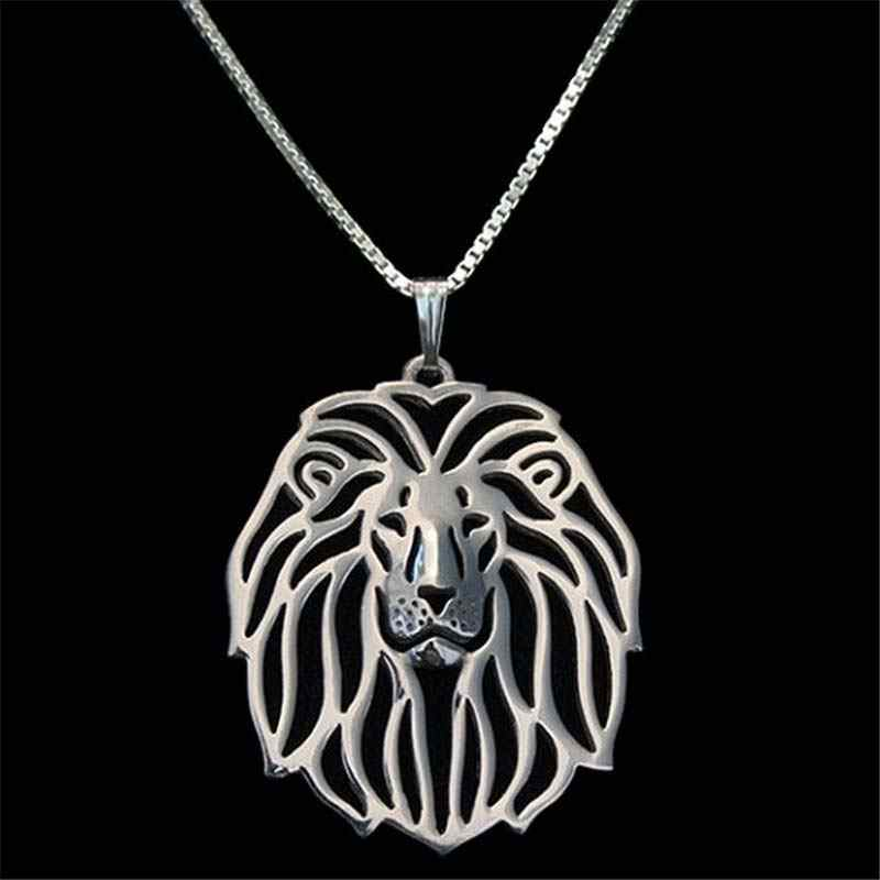 Lion Pendant Silver Plated Necklace Women Handmade Choker For Pet Lovers Fashion Animal Jewelry Wholesale 2017