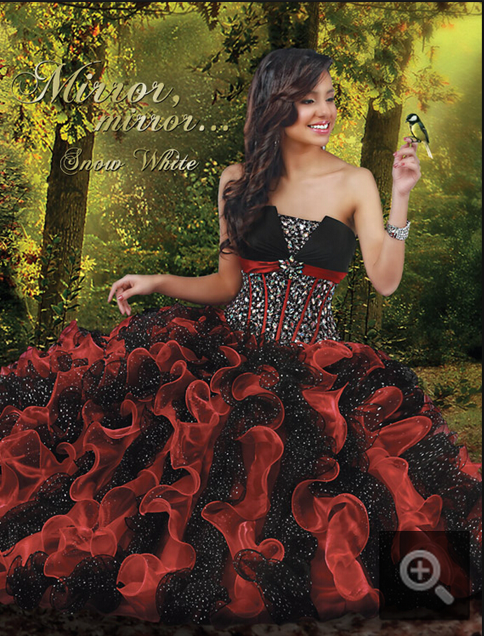 Popular Red Black Quinceanera Dresses-Buy Cheap Red Black ...