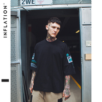 INFLATION 2017 Summer New Style Oversize Unisex Hipster Casual Cool Tie Dye Designs Crew Neck Cotton