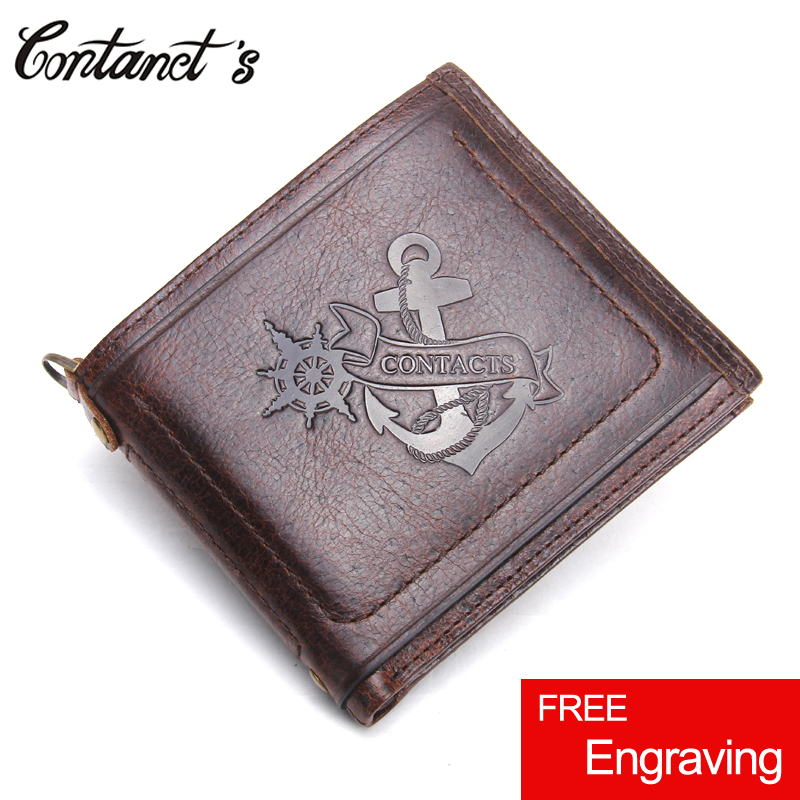 2018 Brand Bifold Wallet Men Genuine Leather Short Male Purse High Capacity Money Bag With Card Holder Luxury Brand Slim Wallets williampolo mens mini wallet black purse card holder genuine leather slim wallet men small purse short bifold cowhide 2 fold bag