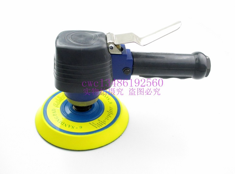 auto polishing machine Putty 6-inch pneumatic sander / grinder / sealing glaze / car waxing machine sanding machine swingable pneumatic eccentric grinding machine 125mm pneumatic sander 5 inch disc type pneumatic polishing machine
