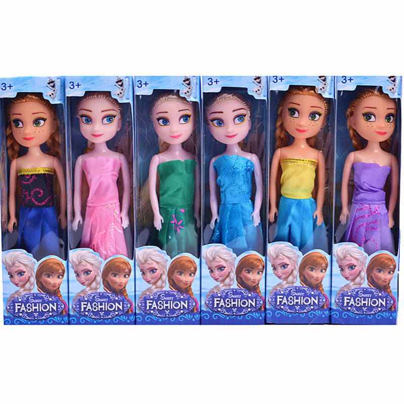 Toys & Hobbies Cheap Price 6pcs/lot 17cm Disney Frozen Boxed Doll Toy Childrens Play House Toy Girl Prize Anna And Elsa Toys Ideal Gift For All Occasions