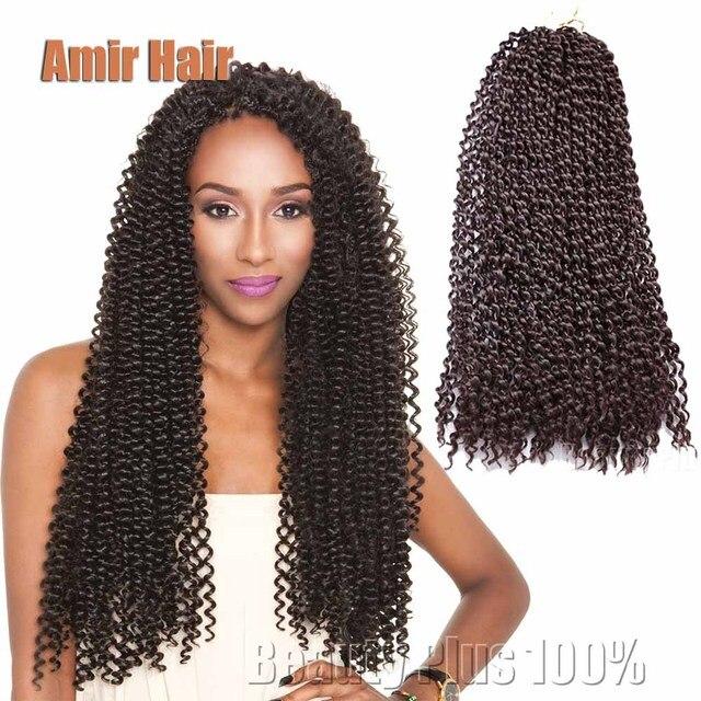 18inch 1b2burg Kinky Curly Hair Crochet Braids Style Bahamas