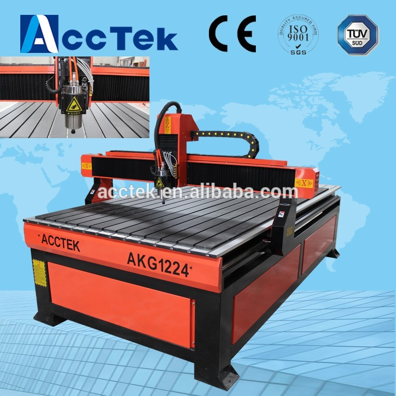 CNC 3d haute précision torno madera 1224 pour bois, MDF, acrylique, pierre, aluminium fabriqué en chine/kit de routeur de CNC/cadre de CNC
