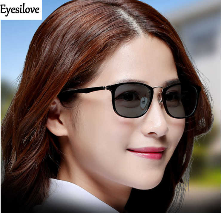 Eyesilove classic women myopia photochromic glasses TR90 lady myopia Glasses myopia sunglasses with Sensitive Transition lenses