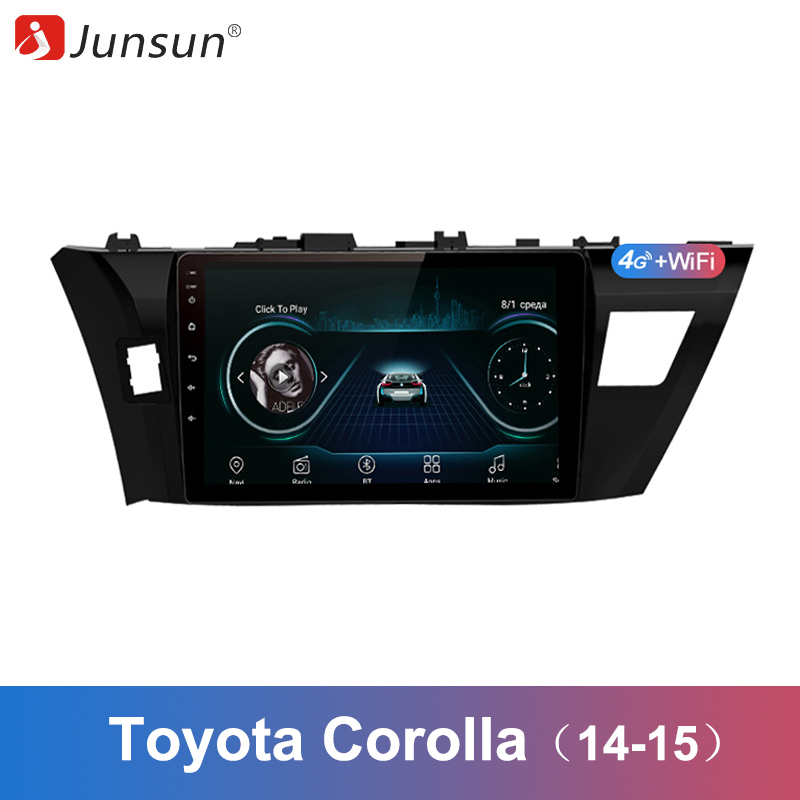 Junsun 2 Din Multimedia Video Player Android 8 1 GPS Navigation Radio WIFI OBD2 For Toyota