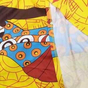 Image 5 - אפריקאי שמלות לנשים 2019 חדש אפריקאי צהוב מזדמן קצר שרוול ארוך שמלה