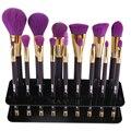 1 unid Cepillo Cosmética de Maquillaje Display Holder Para 15 Unids Fundación Brush cepillo de Dientes Estante De Exhibición De Acrílico Titular