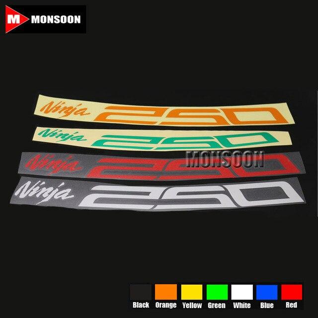 For KAWASAKI Ninja Ninja Motorcycle Front Rear CUSTOM - Motorcycle bumper custom stickers