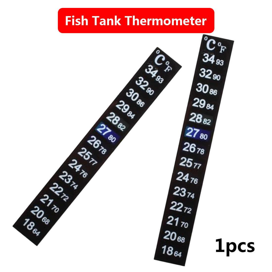 Aquarium Fish Tank Thermometer Temperature Sticker Aquarium Accessories Digital Dual Scale Stick-on High Quality Durable