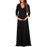 Maternity Clothing Soft Dress Clothes For Pregnant Women Maternity Dresses Long Dresses Pregnancy Women's Dress Summer