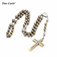 Catholic Stainless Steel 8mm Rosary Beads Religious 28