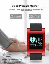 Pressão arterial Monitor de Rastreador Inteligente Sono Pulseiras Bluetooth Inteligente Pulseira de Relógio Das Mulheres Dos Homens Do Esporte Da Aptidão para O Iphone Android