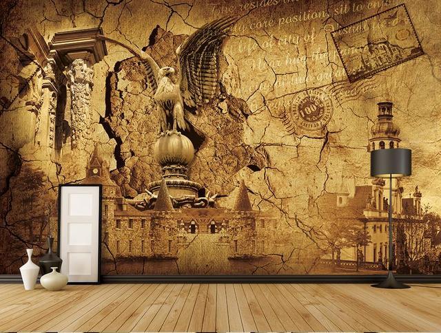 Benutzerdefinierte 3d Wand Mural Europaischen Mittelalterlichen