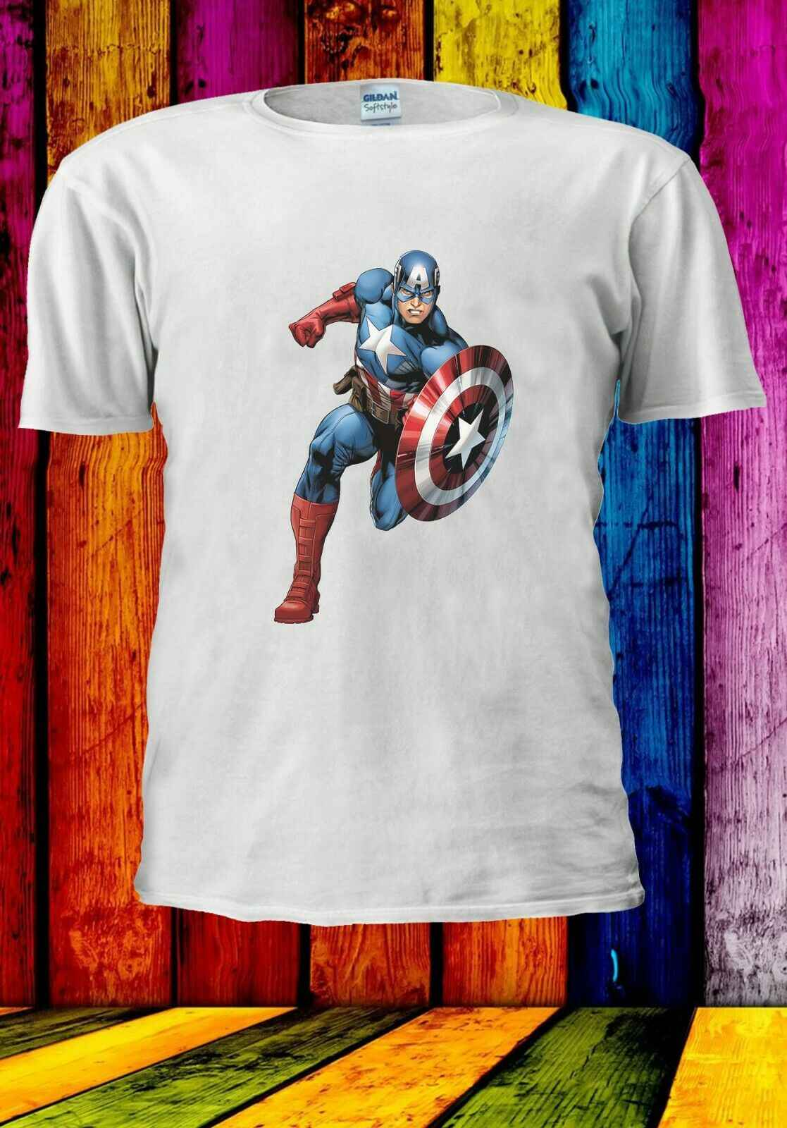 Kapitan ameryka Superhero Avengers Steve Rogers mężczyźni kobiety Unisex T-shirt 2863