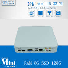 3 Years Warranty ultra small pc HTPC mini DIY mini pc i5 3317U Dual Core 1.7Ghz 8G RAM 128G SSD support XBMC