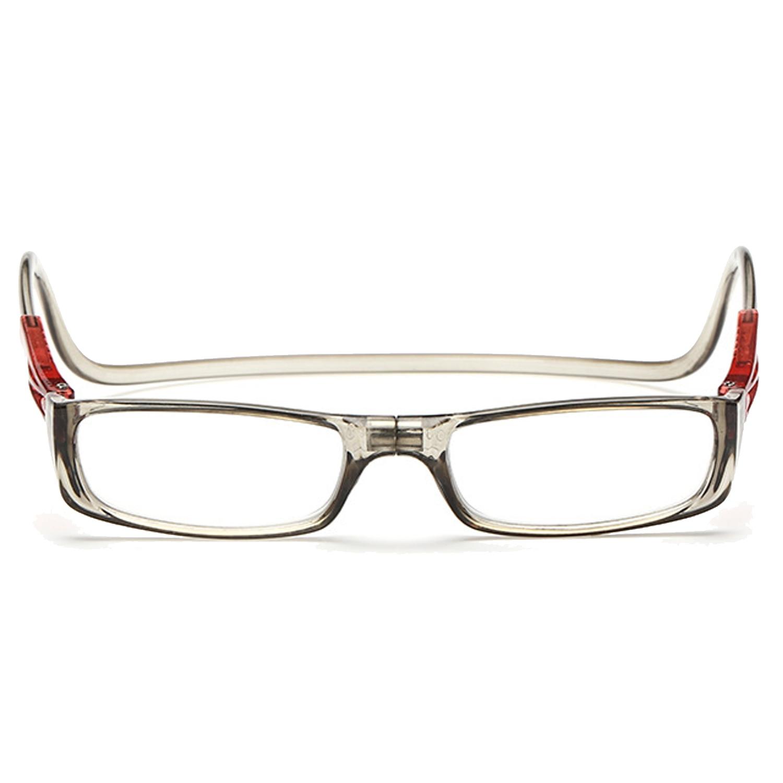 Promo Pria Wanita Adjustable Depan Menghubungkan Hang Leher Klik Magnetic Powder Kacamata Pembaca Presbyopia Kacamata 2 00D Di Tiongkok