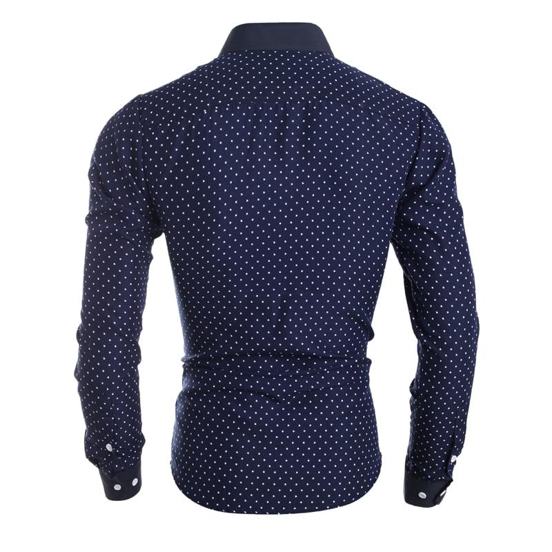 Novo 2018 moška majica majica Casual moška majica slim fit srajco - Moška oblačila - Fotografija 4