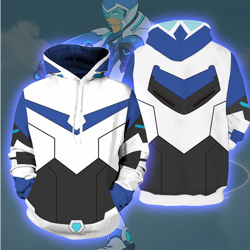 3D Printing Voltron:Legendary Defender Cosplay Hoodies Pullover Sweatshirts Costumes Hooded Jacket