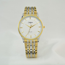 Onlyou Marca de Lujo Relojes de Las Mujeres de Los Hombres de Cuarzo Reloj de Plata de Oro Correa de Acero Inoxidable de Negocios Reloj de Señoras Vestido Reloj 81077