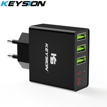 KEYSION LED Digital 3 Ports USB Charger Universal Wall Mobile Phone For iPhone XS MAX XR X 8 7 Samsung S8 S9 Adapter