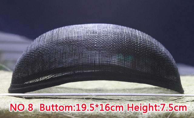 Nou stil 19,5 * 16 cm Sinamay Anomalistic Baza Ovală Formă de pălărie 10 buc / lot