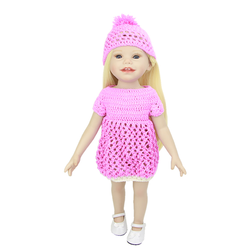 Lifelike Full Vinyl 18 Inch American Girl Realistic Doll Baby Toy Waterproof Newborn Princess Babies With Pink Dress For Sale  18 inch lovely american girl princess doll baby toy doll with fashion designed dress journey girl doll alexander doll