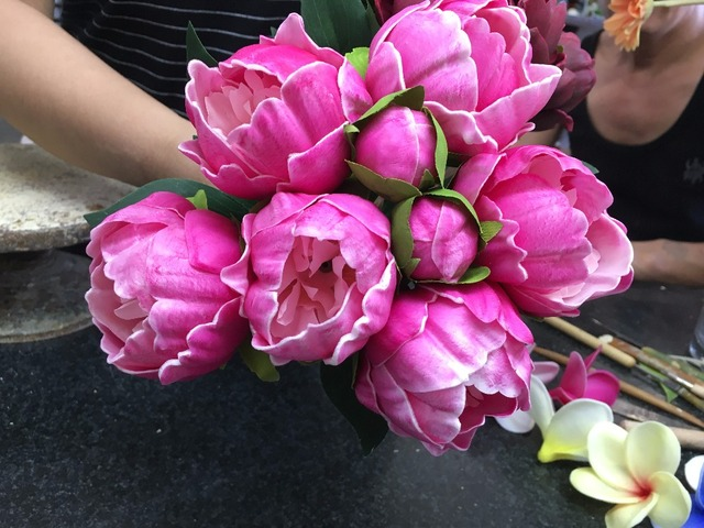 wholesale PU real touch peony bouquet bridal bridesmaids bouquets ...